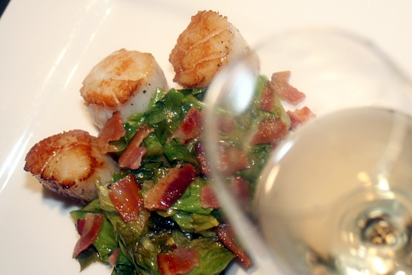 Seared Jumbo Sea Scallops With Wilted Arugula, Corn ...