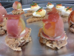 Classic canap s around anna 39 s table for Prosciutto and melon canape