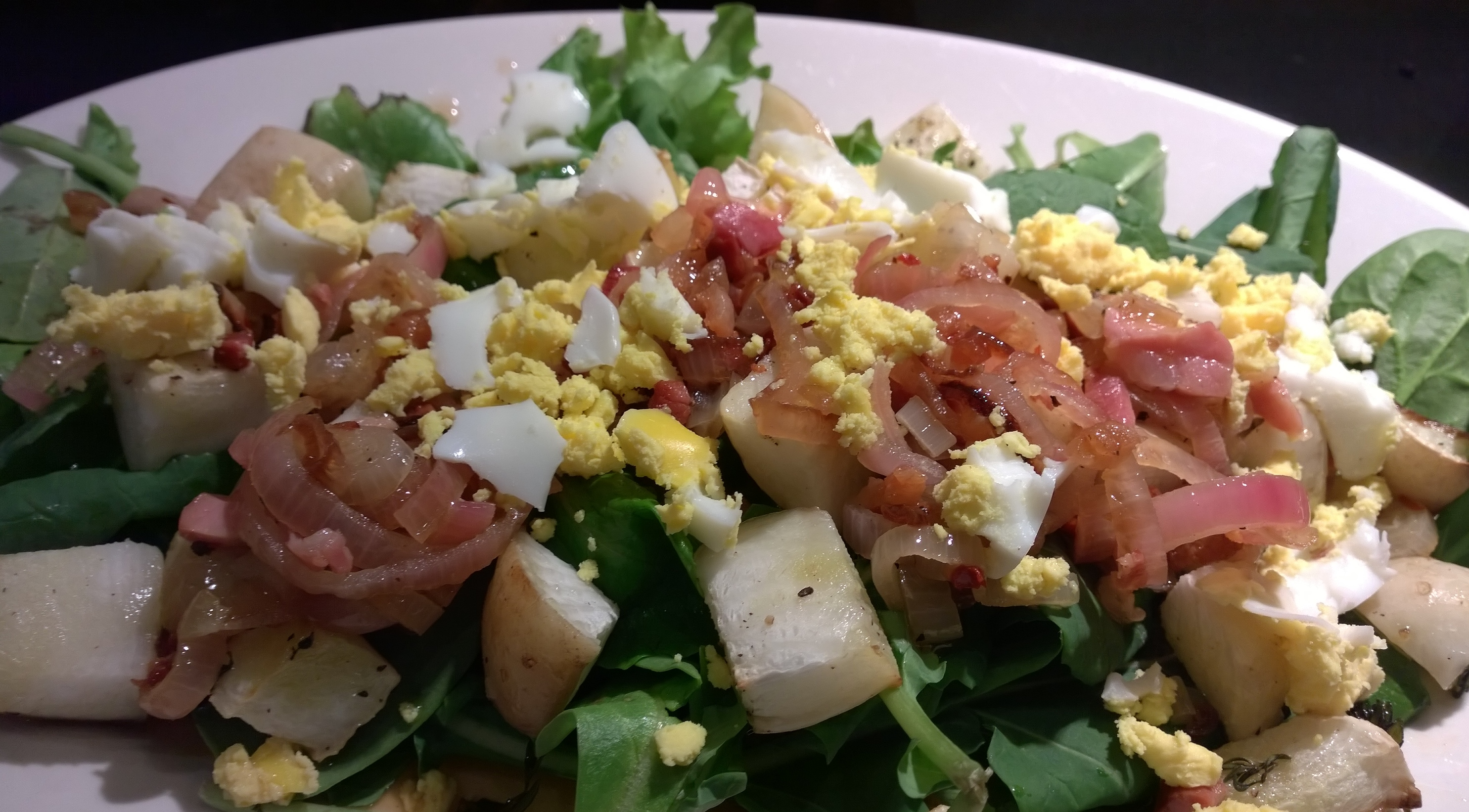 Roasted Turnip & Baby Kale Salad with Warm Pancetta ...