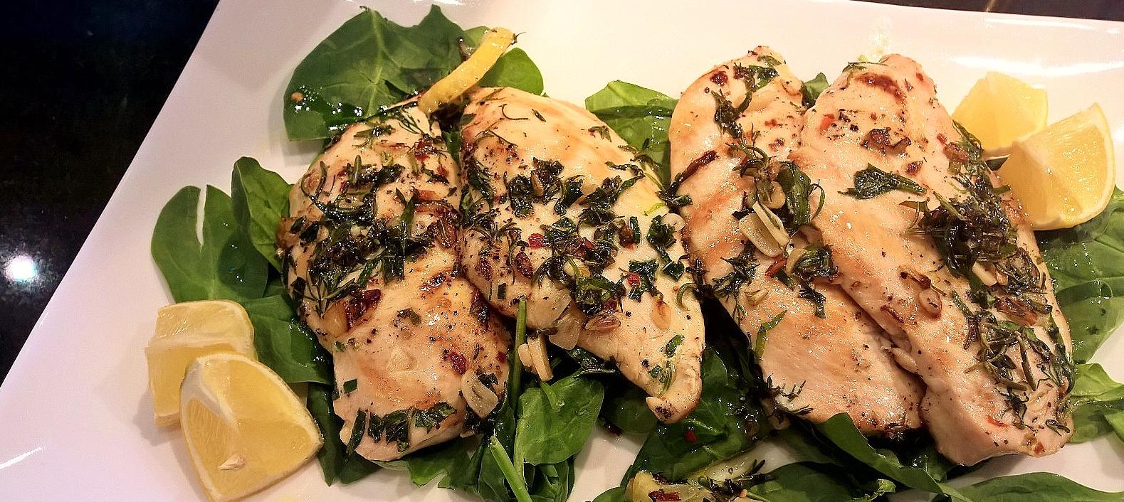 Grilled Chicken Cutlets with Garlic-Herb Oil | Around Anna ...