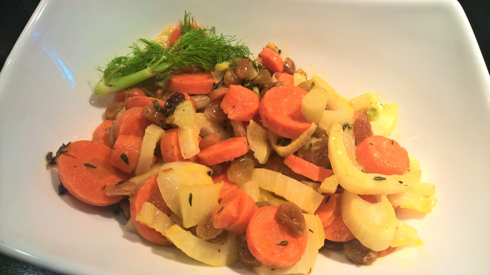 Orange Braised Fennel and Carrots