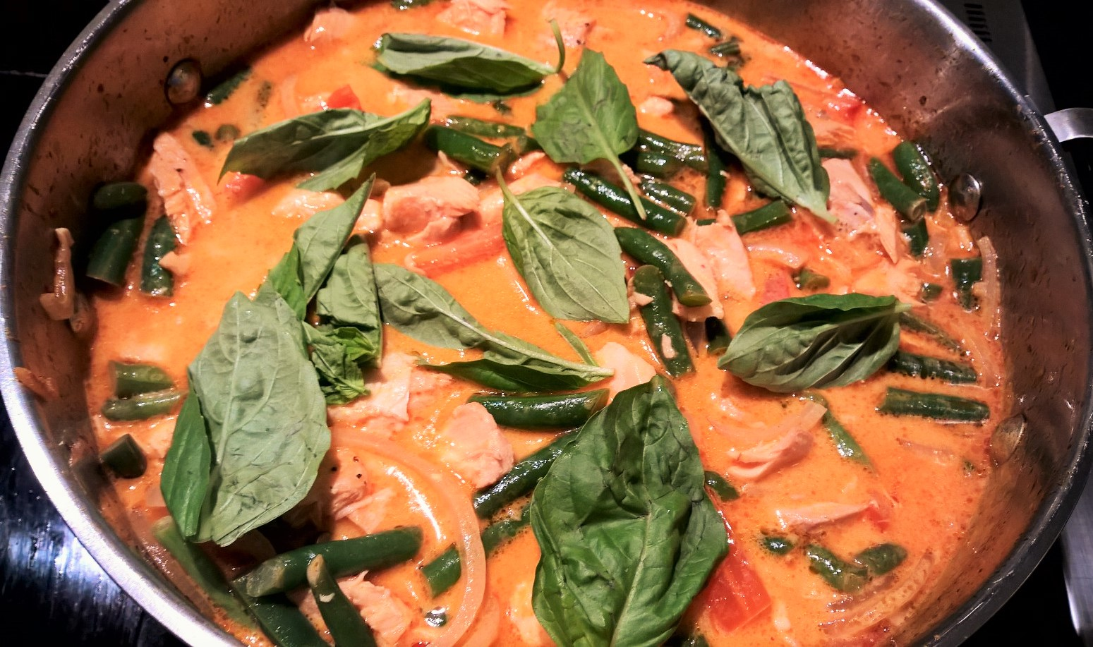 Red thai salmon curry around annas table recipe courtesy of bbc good food forumfinder Image collections
