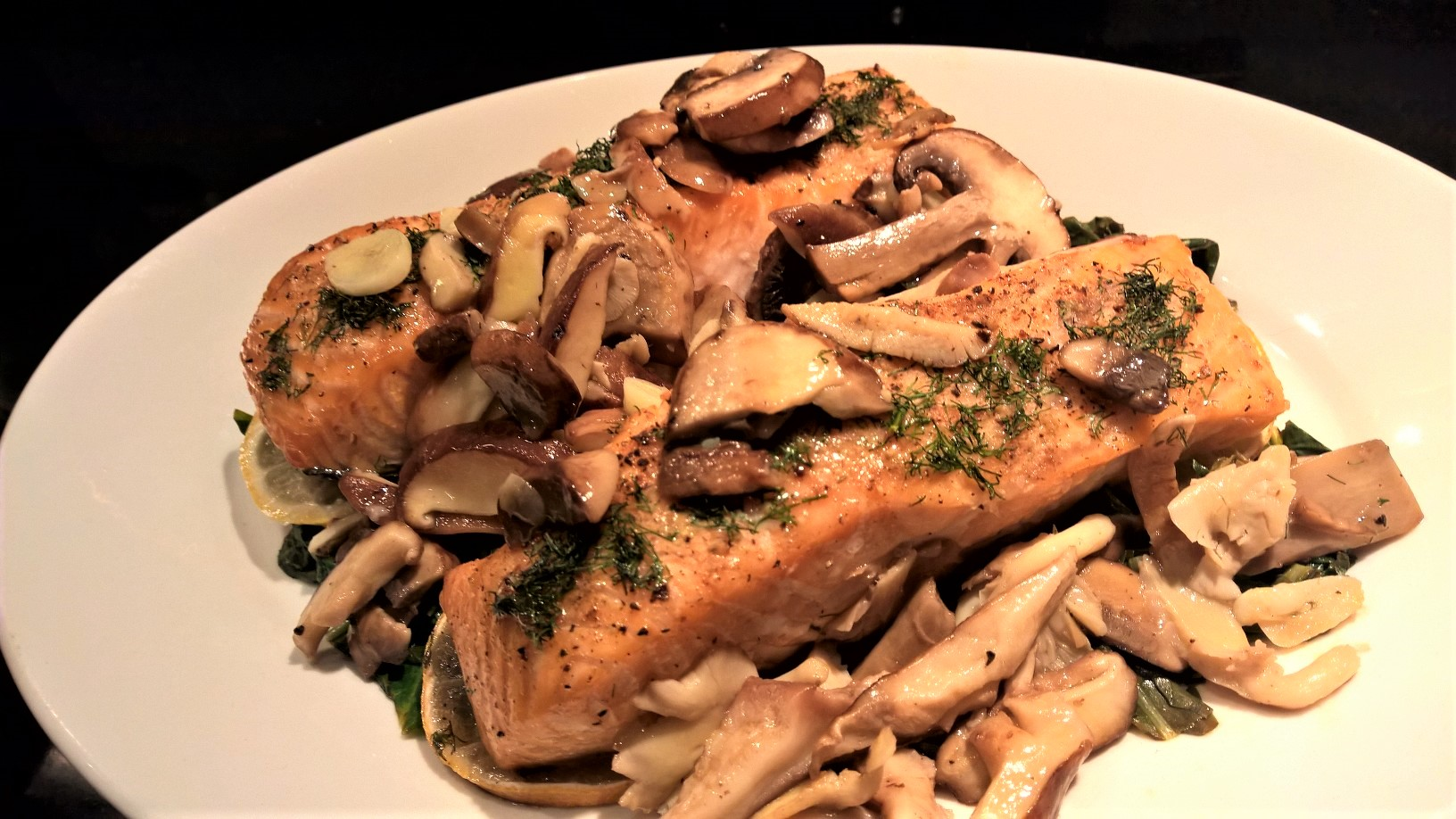 Baked Salmon With Dill Mushrooms Around Anna S Table