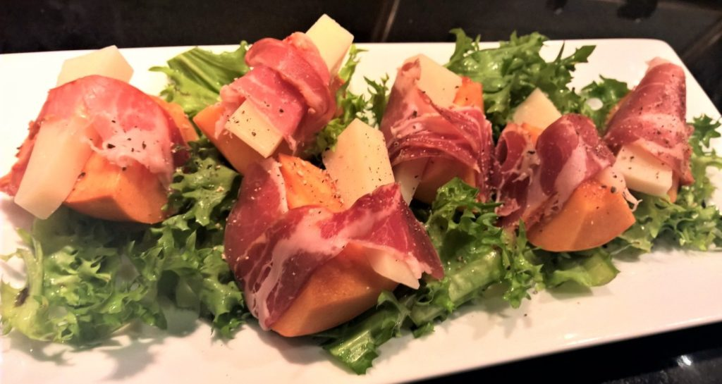prosciutto-wrapped-persimmon-with-manchego