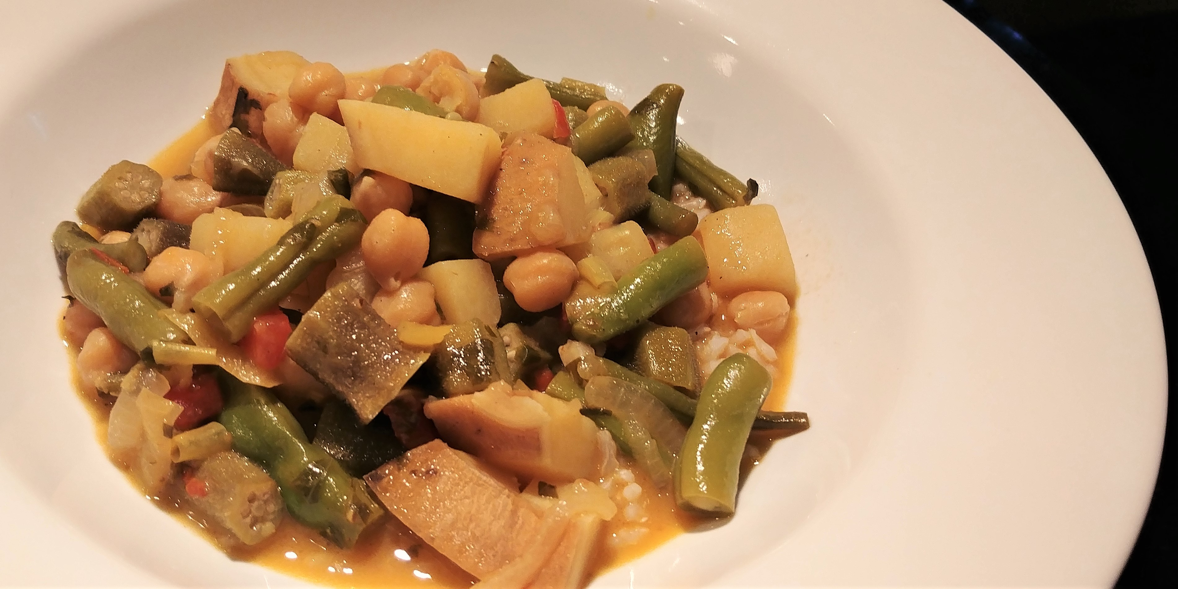 Sweet Potato, Okra & Chickpea Curry | Around Anna's Table